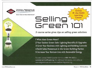 Selling Green 101 ad NAED